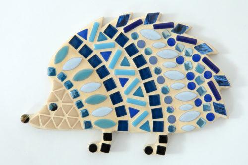 turtle and moon blue hedgehog mosaic craft kit