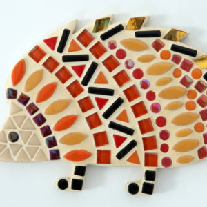 turtle and moon red hedgehog mosaic craft kit