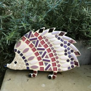turtle and moon purple hedgehog mosaic craft kit