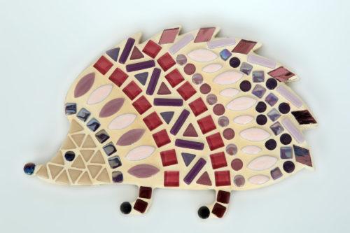 turtle and moon purple hedgehog mosaic craft kit