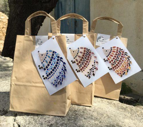 turtle and moon hedgehog mosaic craft kits