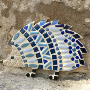 turtle and moon blue hedgehog mosaic craft kit