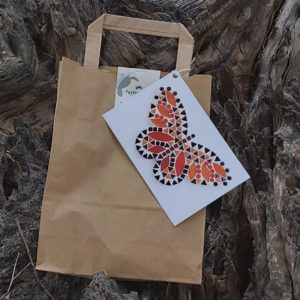 turtle and moon orange butterfly mosaic craft kit