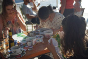turtle and moon painting party