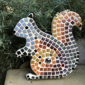 turtle and moon squirrel mosaic craft kit