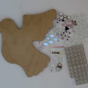 turtle and moon dove mosaic craft kit contents