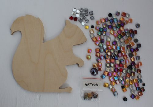 turtle and moon squirrel mosaic craft kit contents