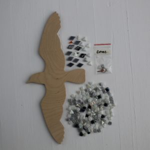 turtle and moon seagull mosaic craft kit contents